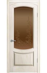 Дверь Океан Лувр Ясень белый жемчуг Стекло бронза