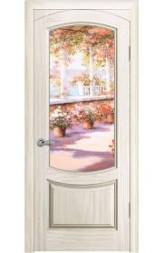 Дверь Океан Лувр Ясень белый жемчуг стекло Элегия