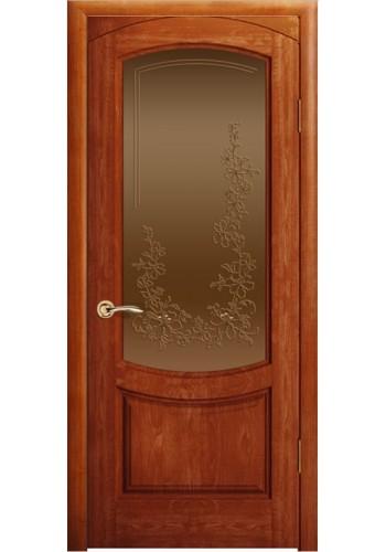 Дверь Океан Лувр Красное дерево стекло Бронза