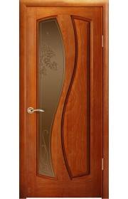 Дверь Океан Шарм Красное дерево стекло Бронза