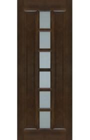 Двери ПМЦ М 11 Темный лак Остекленные