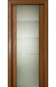 Двери Статус 222 Орех стекло с Алмазной гравировкой