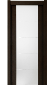 Двери Статус 222 Дуб черный стекло с Алмазной гравировкой