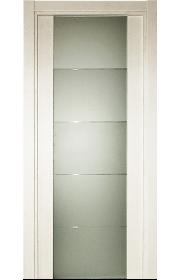 Двери Статус 222 Дуб белый стекло с Алмазной гравировкой