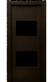 Двери Статус 221 Дуб черный стекло Лакобель черное