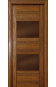 Двери Статус 221 Орех стекло Лакобель коричневое