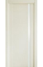 Двери Статус 321 Дуб белый стекло Лакобель белое