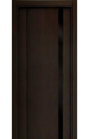 Двери Статус 321 Дуб черный стекло Лакобель черное