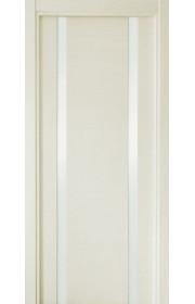 Двери Статус 322 Дуб белый стекло Лакобель белое