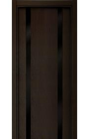 Двери Статус 322 Дуб черный стекло Лакобель черное
