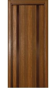 Двери Статус 322 Орех стекло Лакобель коричневое