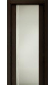 Двери Статус 331 Дуб черный стекло с Вертикальной гравировкой