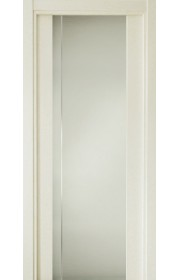 Двери Статус 331 Дуб белый стекло с Вертикальной гравировкой