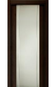 Двери Статус 332 Дуб черный стекло с Вертикальной гравировкой