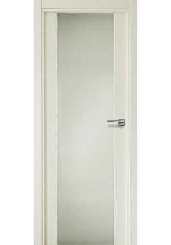 Двери Статус 423 Дуб белый стекло Лакобель белое
