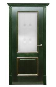 Дверь Халес Триест зеленый с золотом ДО