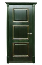 Дверь Халес Триест зеленый с золотом ДГ