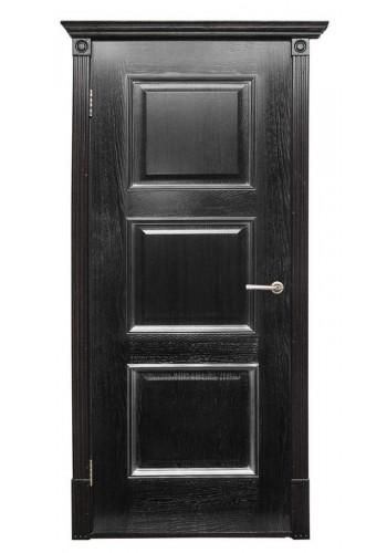 Дверь Халес Триест черный с серебром ДГ