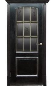 Дверь Халес Верона черный абрикос с серебром ДО