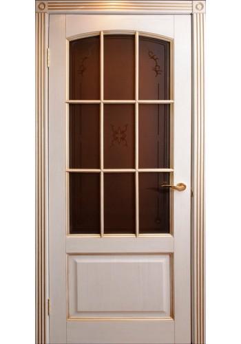 Дверь Халес Верона слоновая кость с золотом ДО