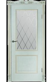 Дверь Гранд Модерн Шервуд Белая со стеклом