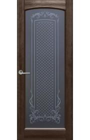 Двери Ока Витраж Rif Темный орех
