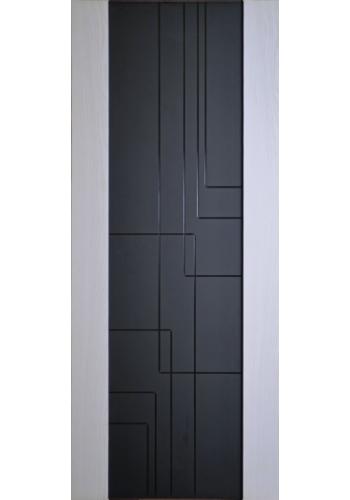 Дверь Дворецкий Лабиринт Белый ясень черный триплекс ДО