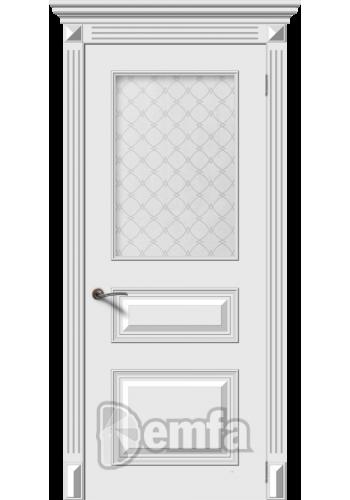 Дверь Дэмфа Багет 3М Белый ДО