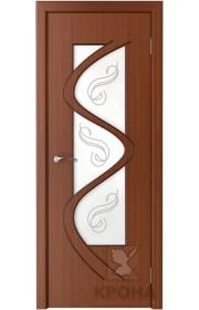 Дверь Крона Вега Макоре стекло матовое с рисунком