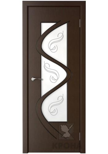 Дверь Крона Вега Венге стекло матовое с рисунком