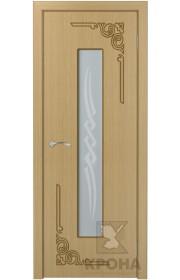 Дверь Крона Византия Дуб стекло матовое с рисунком