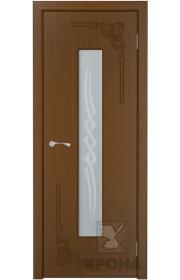 Дверь Крона Византия Орех стекло матовое с рисунком