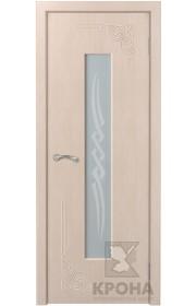 Дверь Крона Византия Беленый дуб стекло матовое с рисунком