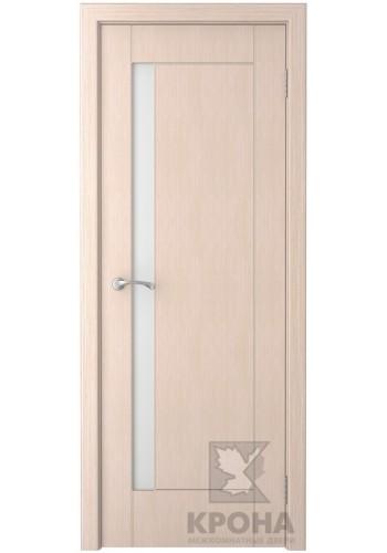 Дверь Крона Гранада Беленый дуб стекло белое матовое
