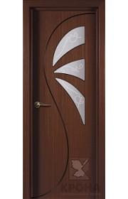 Дверь Крона Иллюзия Макоре стекло матовое с рисунком