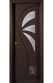Дверь Крона Иллюзия Венге стекло матовое с рисунком