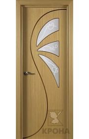 Дверь Крона Иллюзия Дуб стекло матовое с рисунком