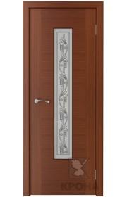 Дверь Крона Карат Макоре стекло белое с рисунком
