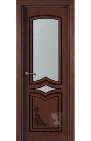 Дверь Крона Карина Макоре стекло матовое с рисунком