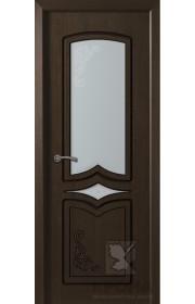 Дверь Крона Карина Венге стекло матовое с рисунком