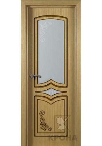 Дверь Крона Карина Дуб стекло матовое с рисунком