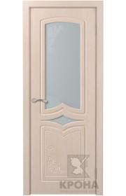 Дверь Крона Карина Беленый дуб стекло матовое с рисунком