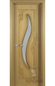 Дверь Крона Лагуна Дуб стекло матовое с рисунком