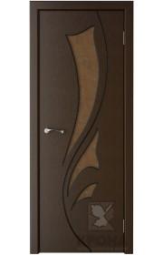 Дверь Крона Лидия Венге стекло дельта-бронза