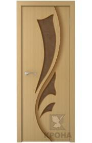 Дверь Крона Лидия Дуб стекло дельта-бронза