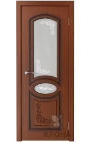 Дверь Крона Муза Макоре стекло матовое с рисунком