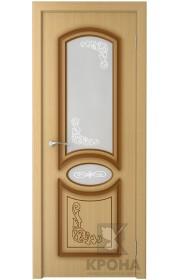 Дверь Крона Муза Дуб стекло матовое с рисунком