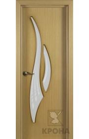 Дверь Крона Парус Дуб стекло матовое с рисунком