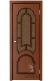 Дверь Крона Соната Макоре стекло дельта-бронза