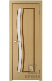 Дверь Крона София Дуб стекло белое матовое